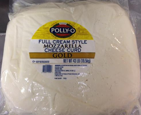 Polly-O Mozzarella Cheese Curd, 43 Lbs.