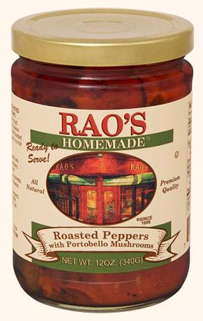 Rao's Roasted Peppers with Portobello Mushrooms, 12 oz