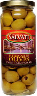 Salvati Pitted Queen Olives, 16 FL OZ