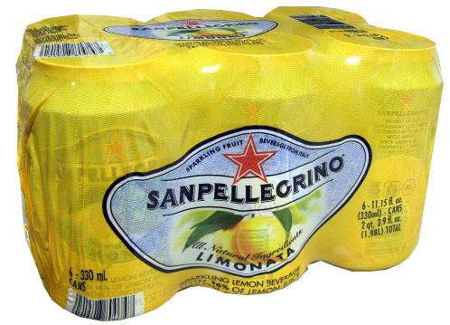 San Pellegrino Limonata 6 pack x 12 oz, Can