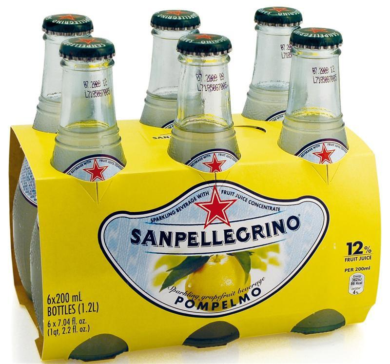 San Pellegrino Pompelmo (Grapefruit) 6 pack x 6.75 fl oz Glass