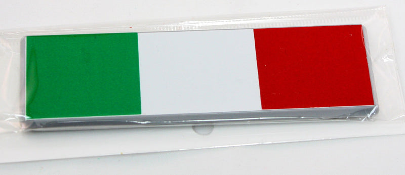 Small Italian Flag Car Sticker