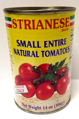 Strianese Small Entire Natural Tomatoes, 14 oz