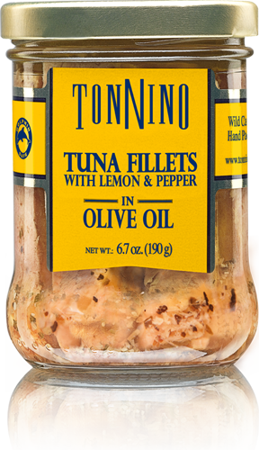 Tonnino Tuna Fillets with Lemon & Pepper, 6.7 oz. Jar