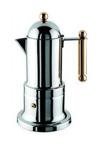 "Vev Vigano ""Kontessa"" Stainless Steel Oro (Gold), 12 cups"