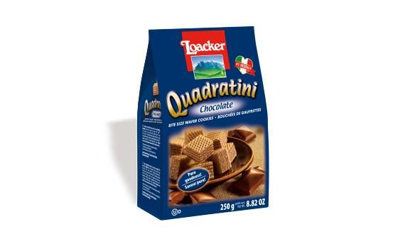 Loacker Quadratini Bite Size, Chocolate 250g