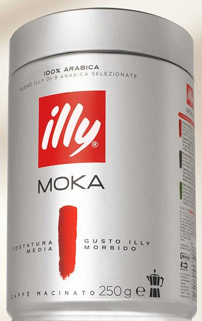 illy MOKA Ground Coffee Medium Roast, 250g can