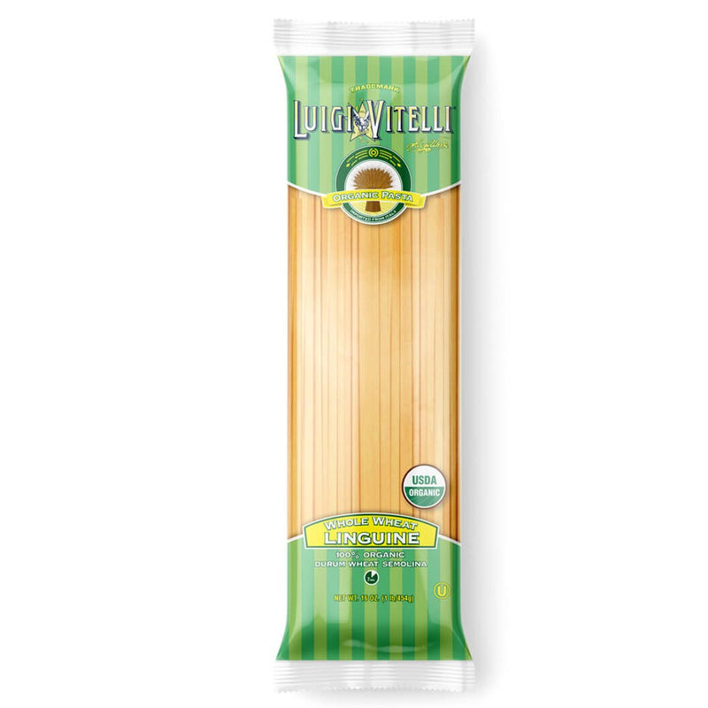 Luigi Vitelli Organic Whole Wheat Linguine, 16 oz | 454g
