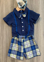 Andy & Evan - Navy and Plaid Set