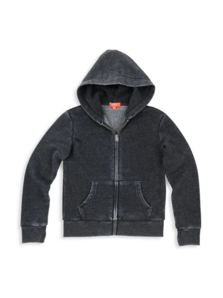 Butter - Girl's Burnout Fleece Zip-Front Hoodie