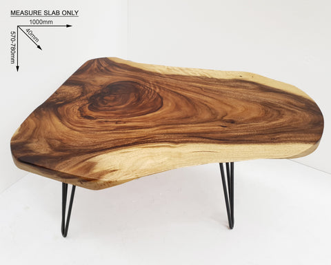 COF035- Live Edge Rectangular Acacia Coffee Table