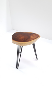 Live Edge Hardwood Timber Seating Stool