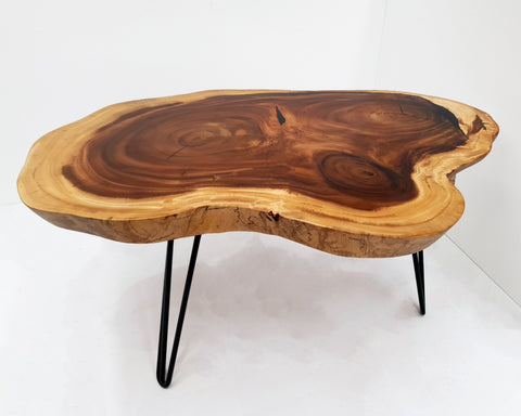 COF028- Live Edge Round Coffee Table