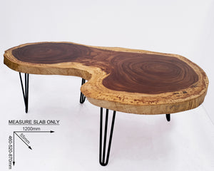 COF045- Rectangular Live Edge Acacia Coffee Table