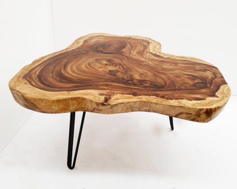 COF033- Acacia Live Edge Heart Shape Coffee Table