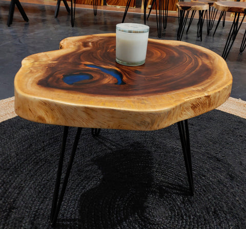 COF004 - Live Edge Resin Coffee Table