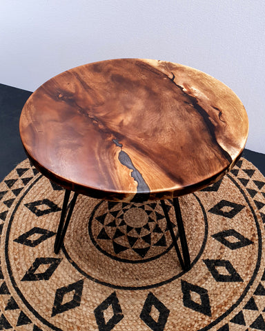 COF016- Round Edge with Scarce Epoxy Coffee or Bar Table Top