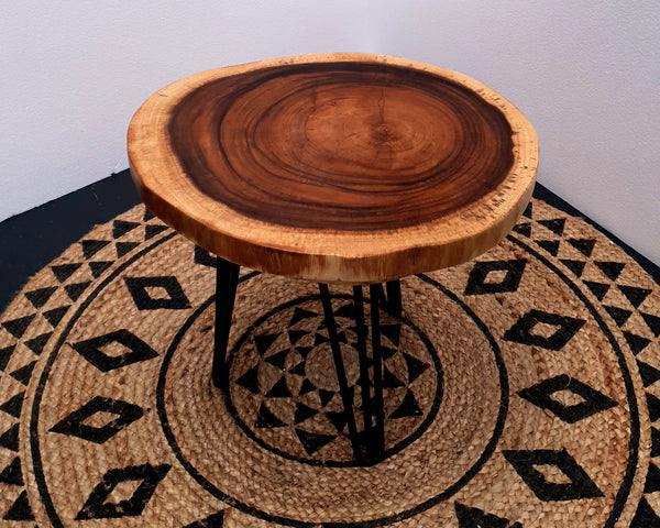 COF020- Warm Brown Monkeypod Wood Small Coffee Table
