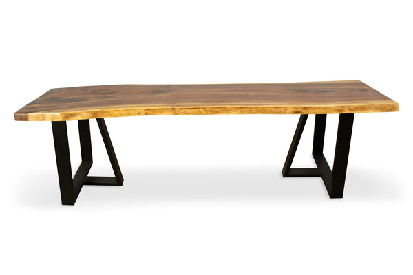 LAD015 - Natural Acacia Wood Dining Table