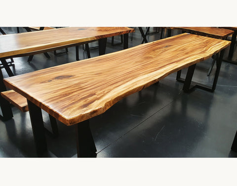 LAD007 - Light Natural Hardwood Dining Table