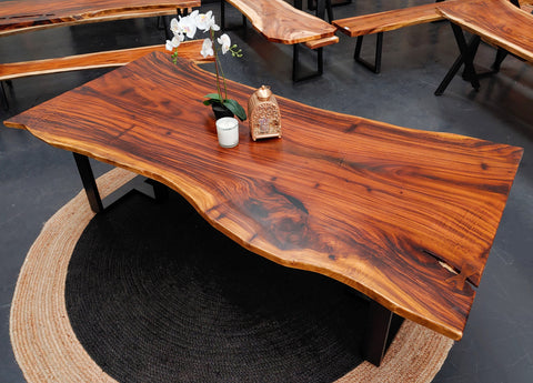 LAD021 - Exotic Dark Brown Dining Table