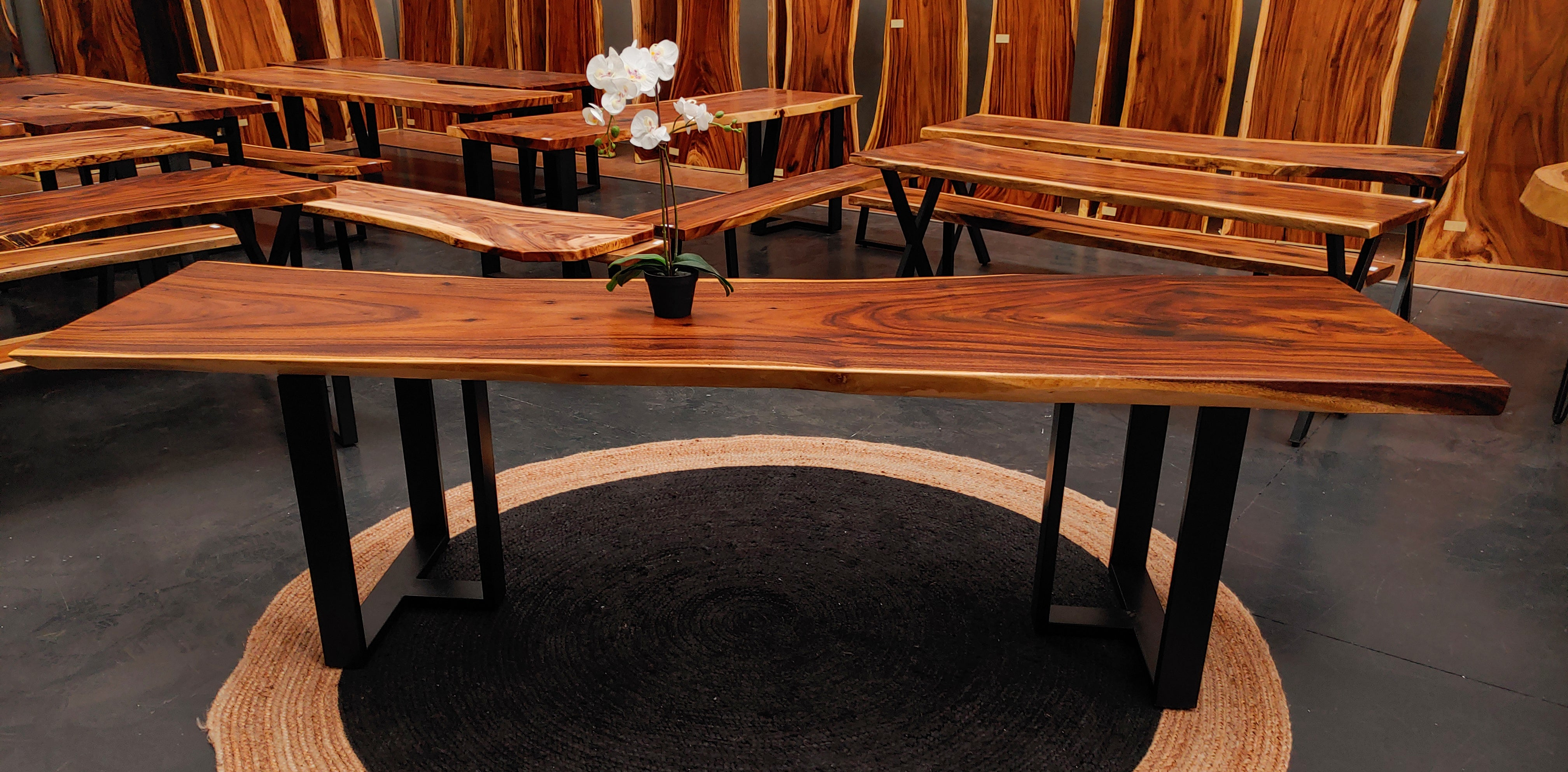 LAD020 - Monkeypod Edge Dining Table