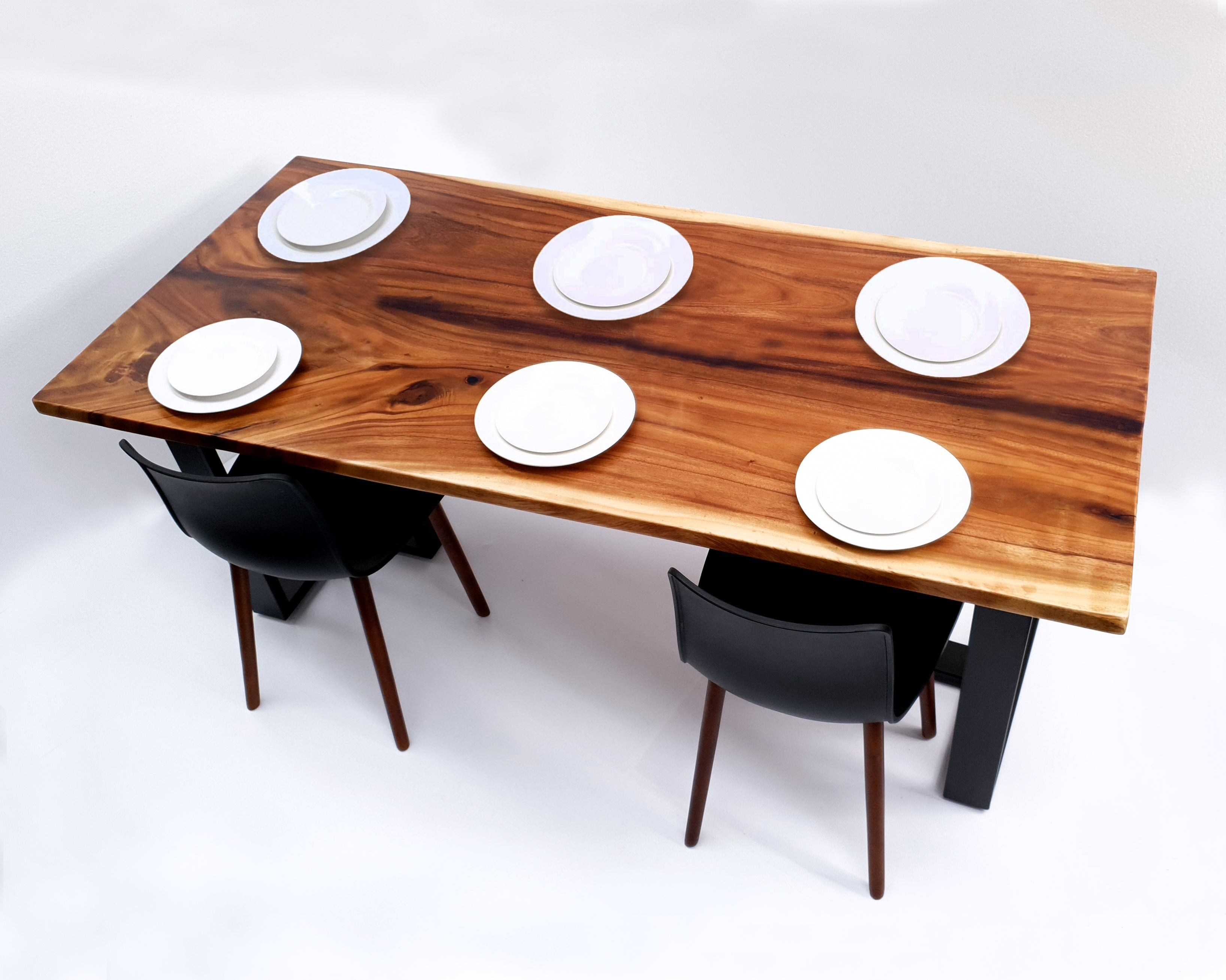 LAD031 - Large Hardwood Family Acacia Joined Slab Dining Table