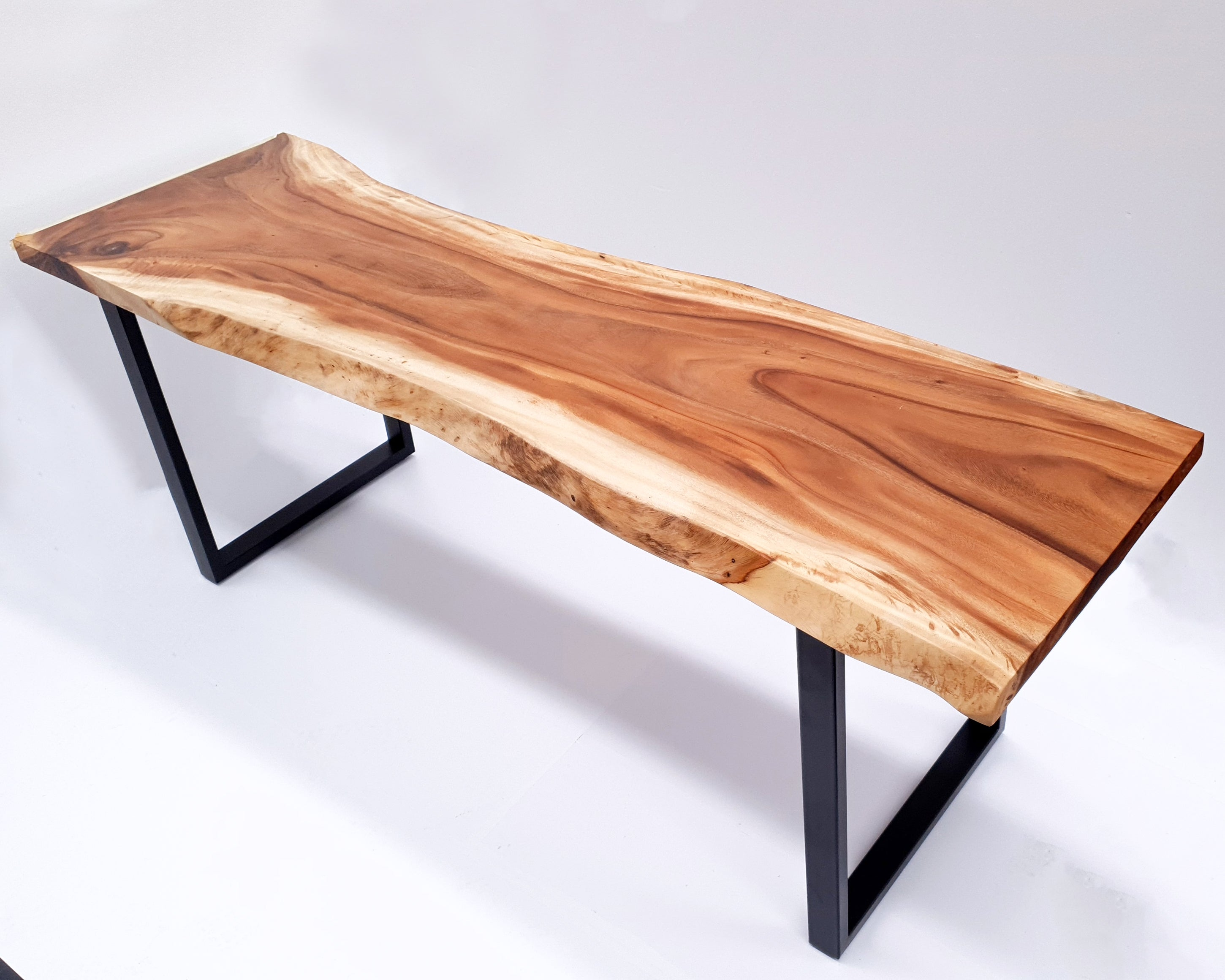 LAD034- Live Edge Light Brown Dining Table