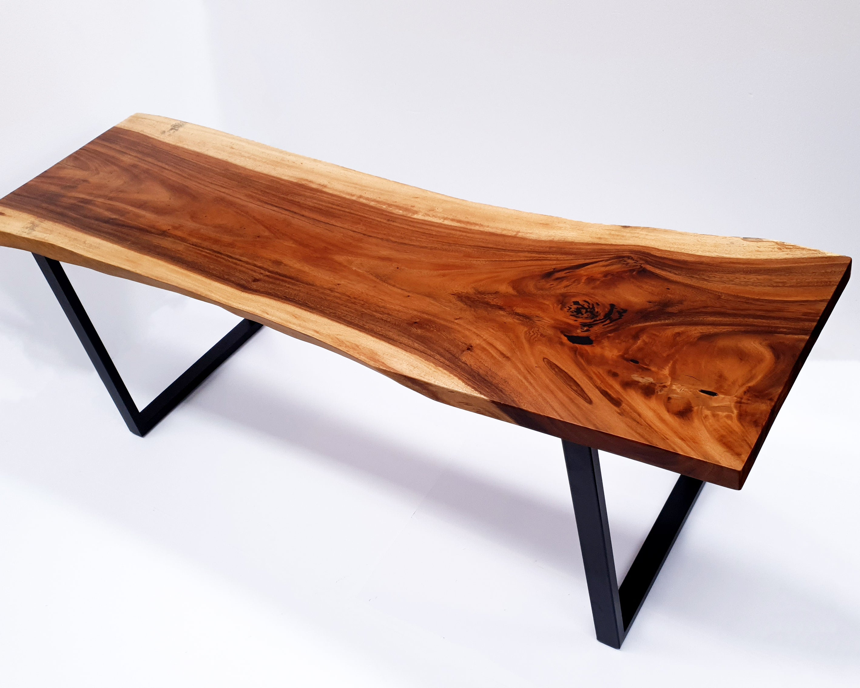 LAD036- Dark Brown Live Edge Long Conference Table