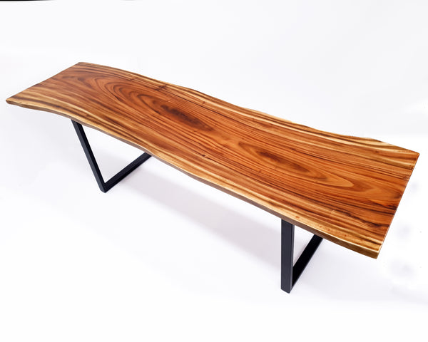 LAD037- Warm Brown Live Edge Family Dining Table