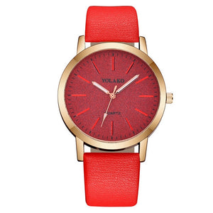 Luxury Brand Leather Quartz Women's Watch Ladies Fashion Watch Women Wristwatches Clock relogio feminino masculino #A