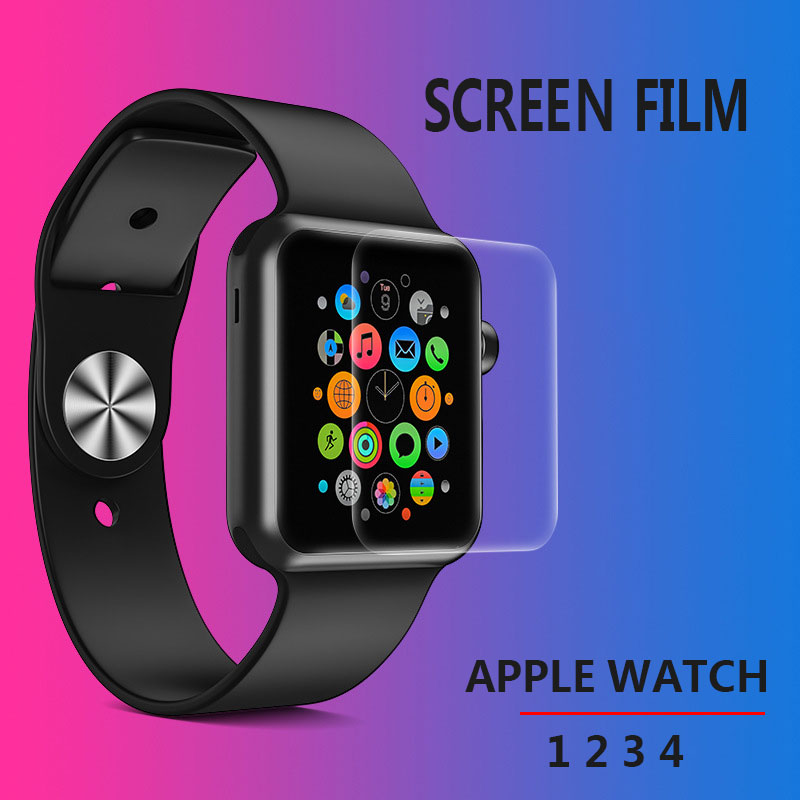 Screen Protector Clear Full Coverage Protective Film for iWatch 4 40MM 44MM Not Tempered Glass for Apple Watch 3 2 1 38MM 42MM