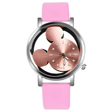Charger l'image dans la galerie, New Cartoon Watches Mickey Mouse Luxury Fashion Women's Watches Leather Ladies Watch Clock reloj mujer bayan kol saati relogio