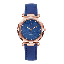 Charger l'image dans la galerie, Ladies Watch Fashion Women's Watches Casual Leather Band Crystal Dial Quartz Wrist Watches Relogio Feminino zegarki damskie W50