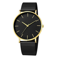 Charger l'image dans la galerie, 2019 New Arrival Women Watch Mesh Band Stainless Steel Analog Quartz Wristwatch Minimalist Lady Business Luxury Black Watches