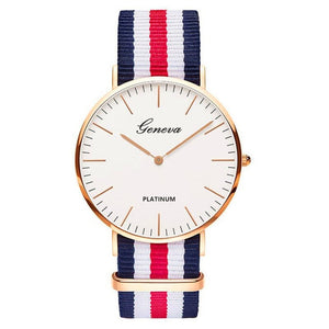18 Styles Ultra Slim Quartz Watch Simple Nylon Band Relogio Masculino  Fashion woman men Wristwatches Geneva Ladies Quartz Watch