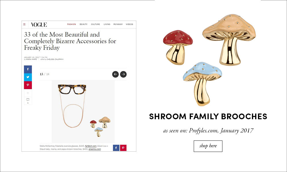 Vogue Shroom Brooches