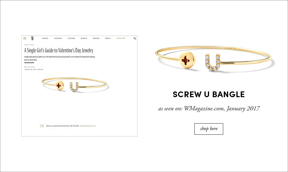 W Magazine: Screw U Bangle