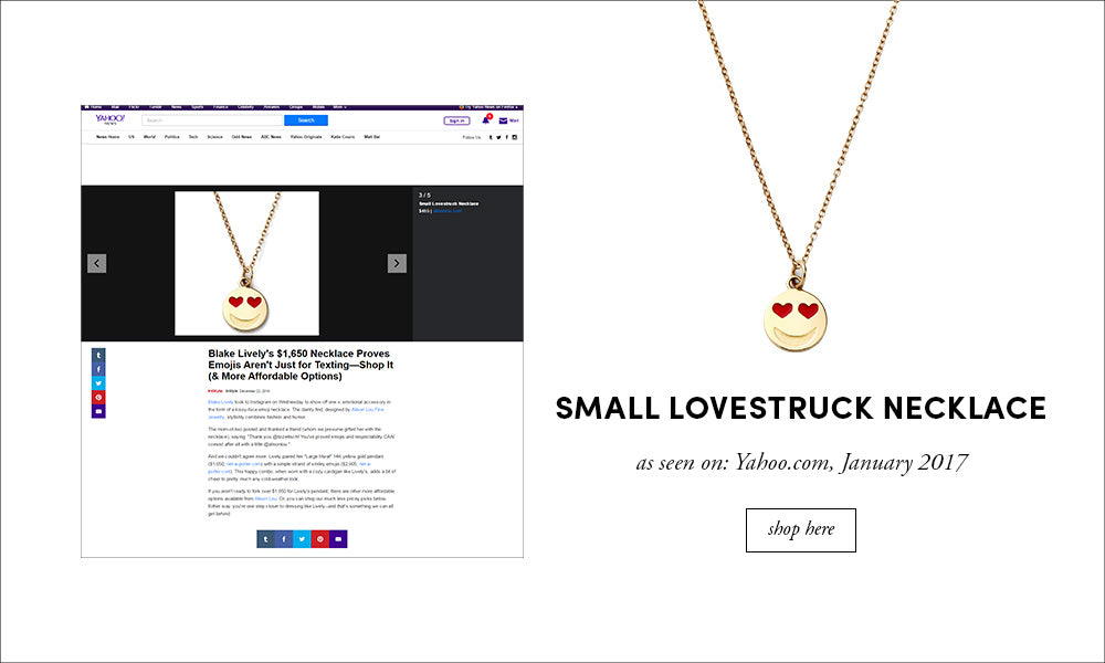 Yahoo! Small Lovestruck Necklace