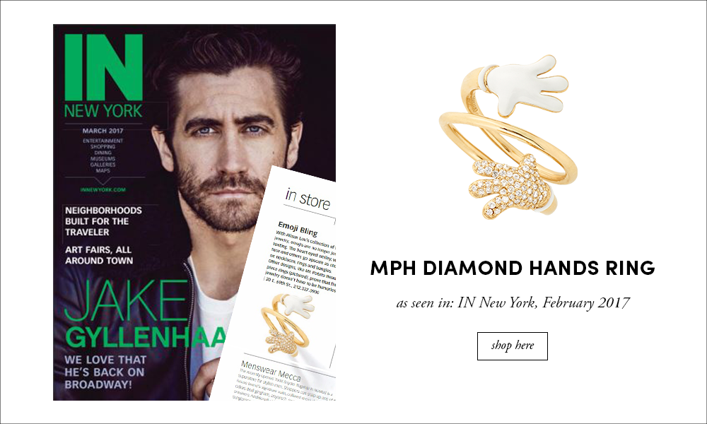 In New York: MPH Diamond Hand Ring