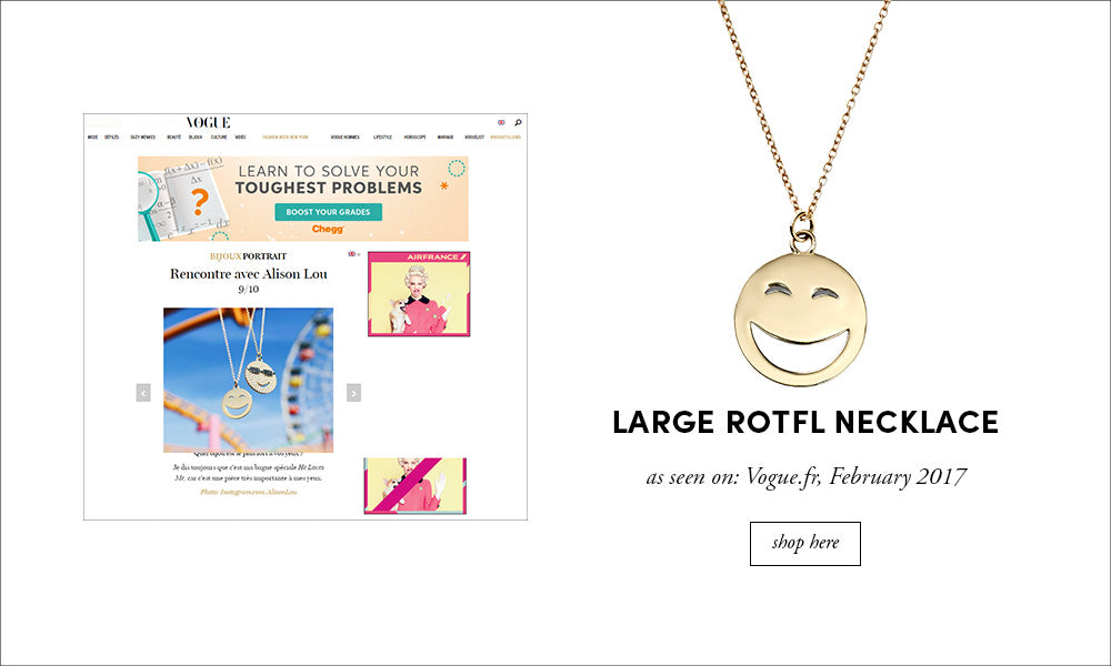 Vogue France: Large ROTFL Necklace