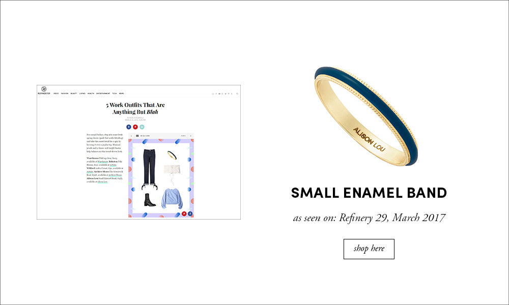 Refinery 29: Small Enamel Band