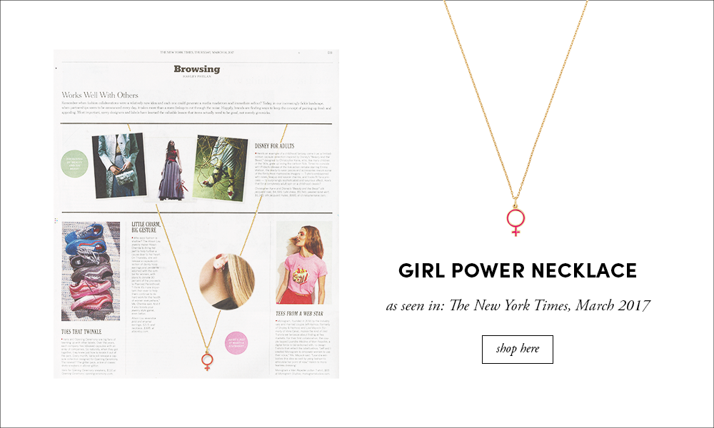 NY Times: Girl Power Necklace