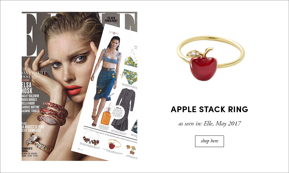 Elle: Apple Stack Ring