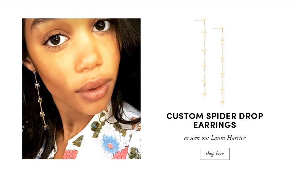 Laura Harrier: Custom Spider Earrings