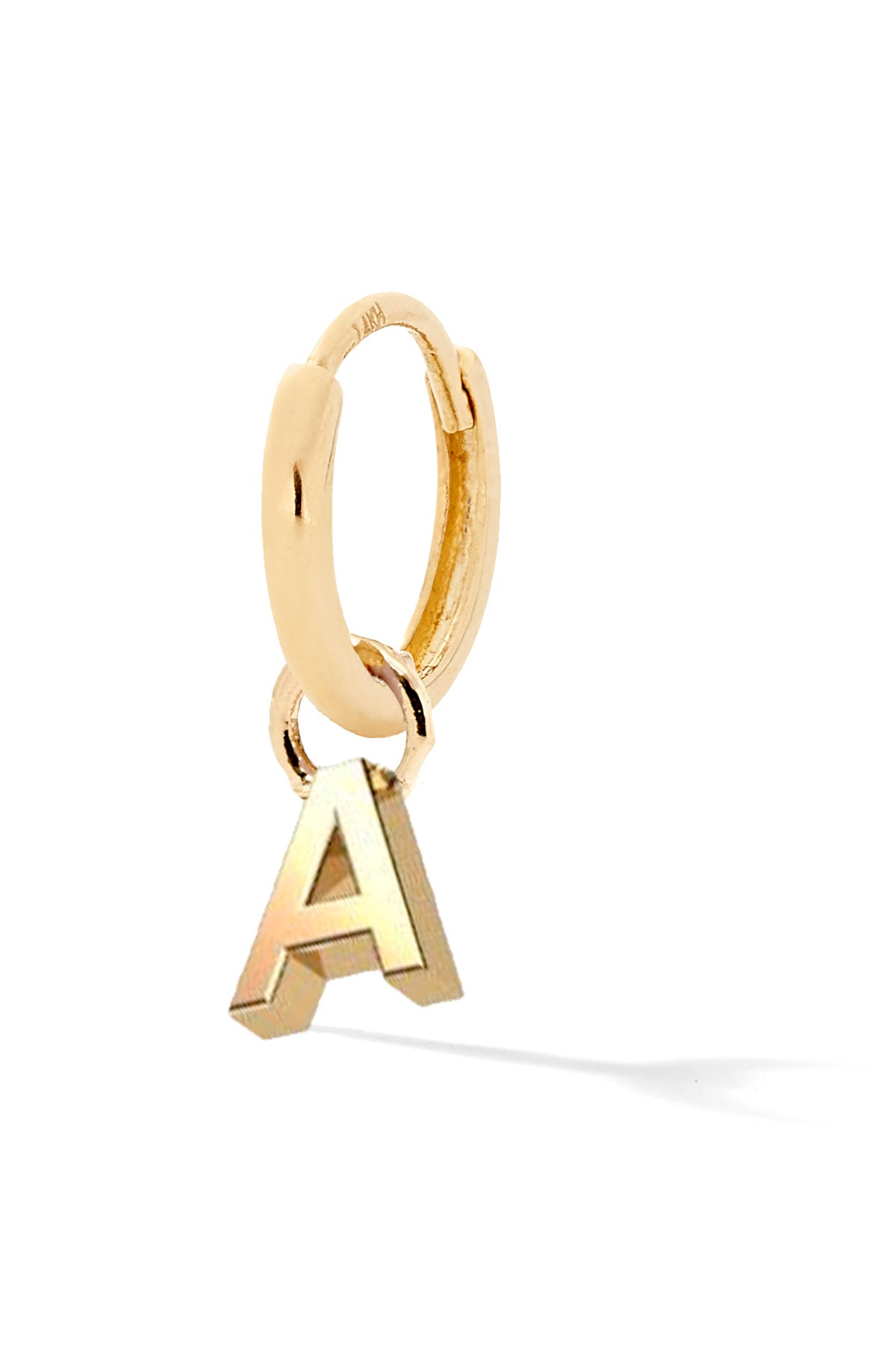 Tiny Letter Gold Huggy - In Stock