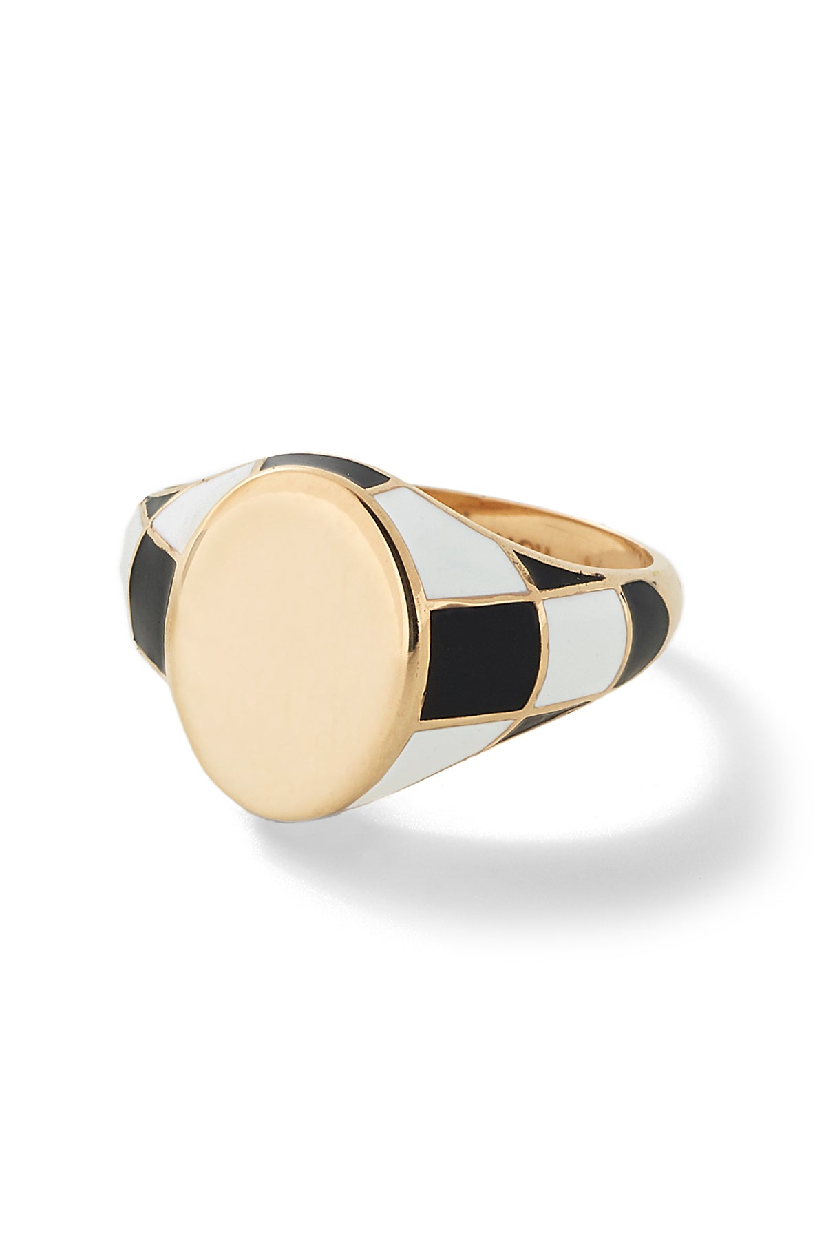 Checker Signet Ring