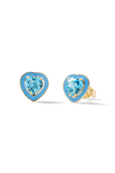 Small Heart-Shaped Cocktail Studs - In Stock