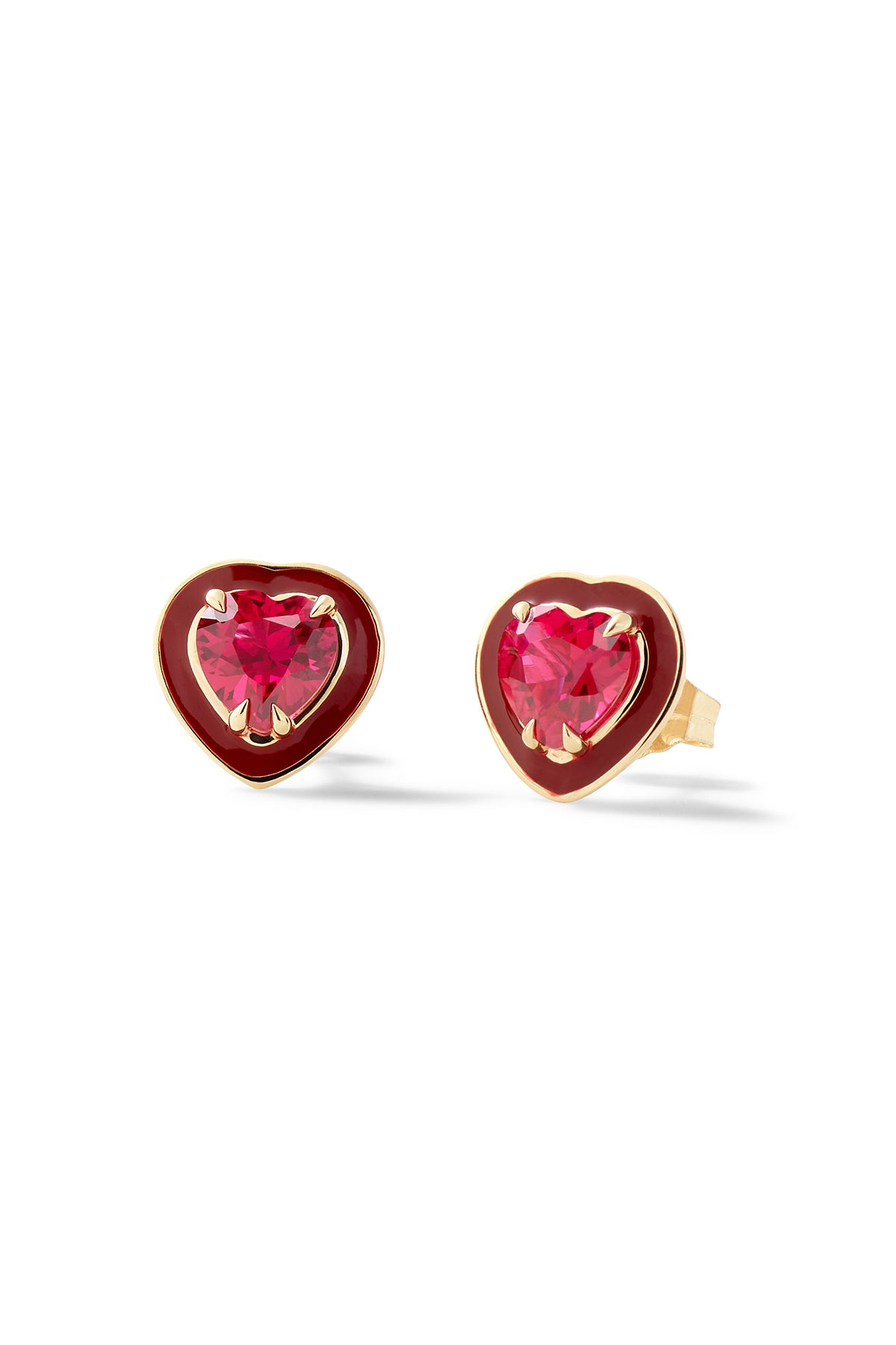 Small Heart-Shaped Cocktail Studs