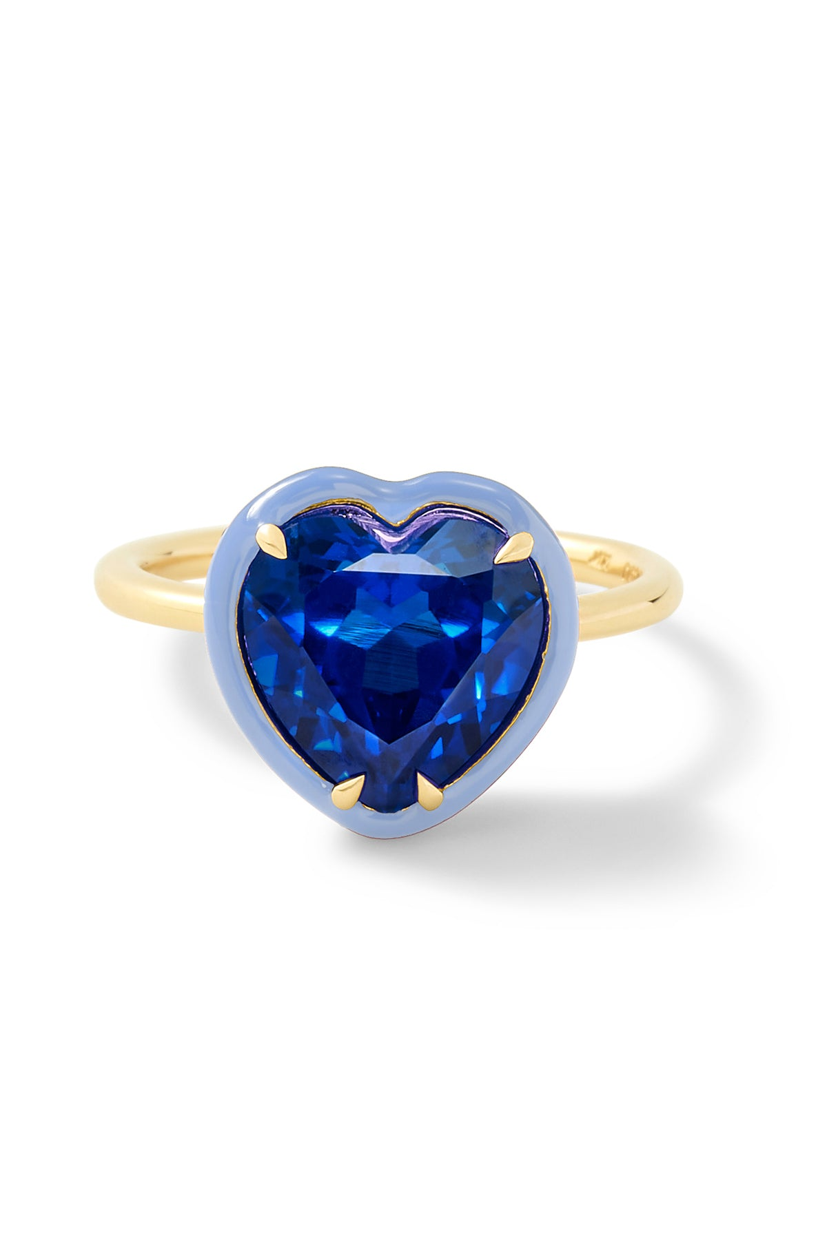Heart-Shaped Blue Sapphire Cocktail Ring - In Stock